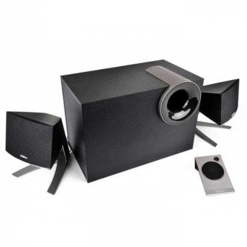XM2PF 2 1 Multimedia Speaker System - With FM Radio - Black