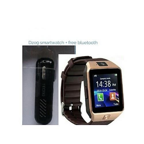 a05e84dda0b Universal Chef Dz09 Smart Watch + Bluetooth Headset- Black/ Gold ...