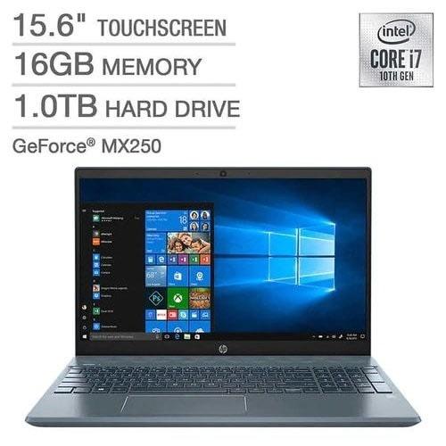 Pavilion 15 - 10th Gen - Intel Core I7 - 1TB 16GB 4GB Nvidia Mx250 Touchscreen Backlit - Win 10.