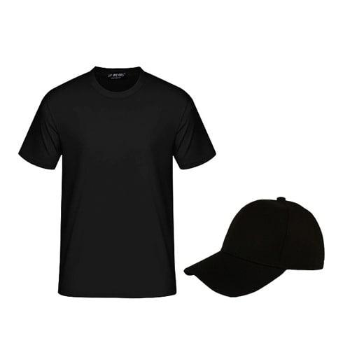 66fec69a09c Plain Crew Neck T-shirt   Sleek Cap - Black