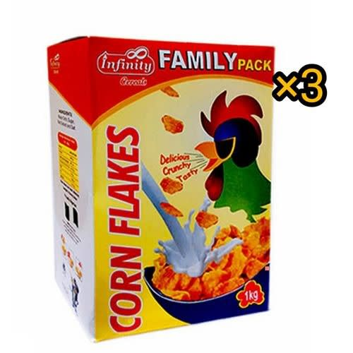 Corn Flakes Family Pack 1kg X 3 Packs.