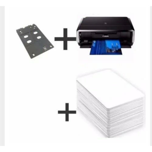 ID Card Labeling Plastic Pixma Ip7240 Wireless Printer + Id Card Tray + Pvc Id