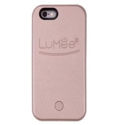 new style 8ffd8 77542 Duo Led Lightning Selfie Back Case For Iphone 7/8 Rose Gold
