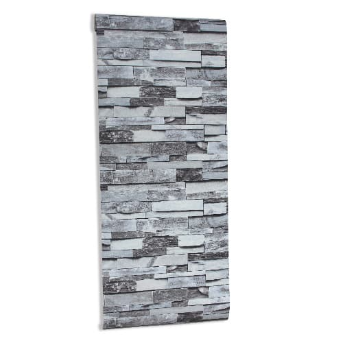 Grey 3d Brick Wallpaper 5 3m2