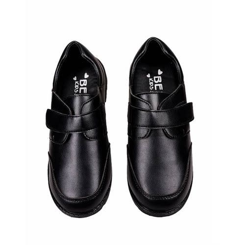 School Shoes With Velcro Strap - Black