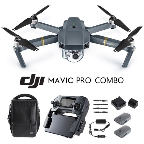 Mavic Pro Fly More Combo - 4k HD Camera Quadcopter Drone With 3 Batteries +  Bag Carrier