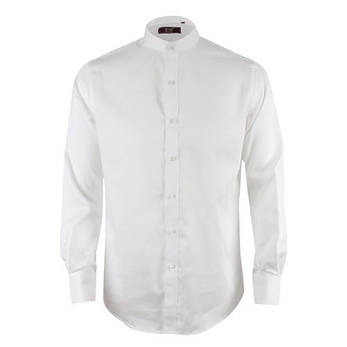 2604496e David Wej Mandarin Collar Pattern Long Sleeve Shirt - White | Konga ...