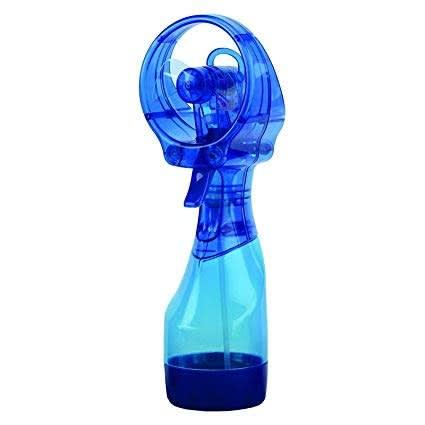 Handheld Water Cooling Mist Spray Fan - Blue