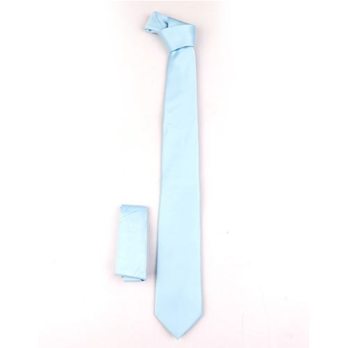 c1a0c96fbe938 David Wej Plain Tie With Pocket Square- Sky Blue | Konga Online Shopping