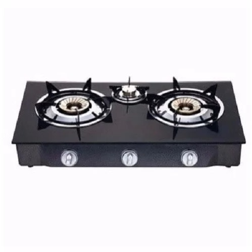 Glass Table Top Gas Cooker - 3 Burners