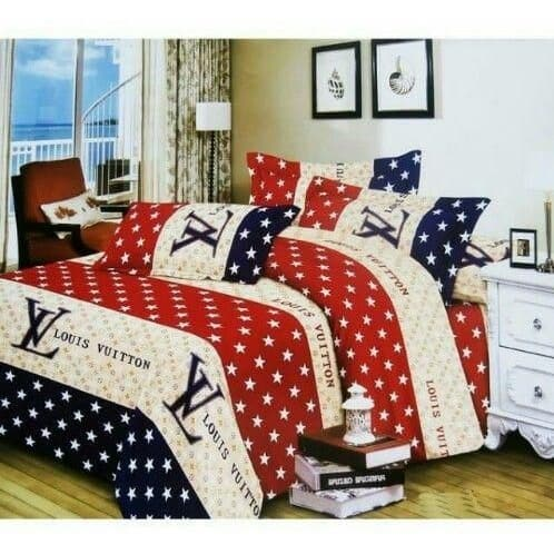 1ad05256c LV Complete Bedding Set - 1 Duvet Comforter, 1 Bed Spread & 4 Pillow Cases