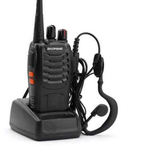 Bf-888s Uhf 400-470 Mhz Handheld Walkie Talkie 2-way Ham Radio With Earpiece