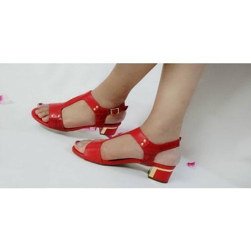 d050e9b27aa Mini Low Heel Sandal - Red