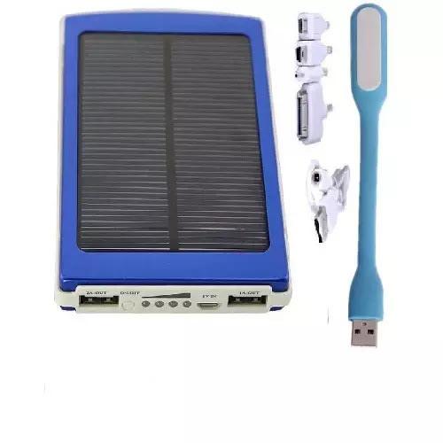 Fit Universal 30000mAh Solar Power Bank + USB LED Light
