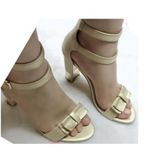 19568e7a06b Women's Block Heel Sandal - Gold | Konga Online Shopping