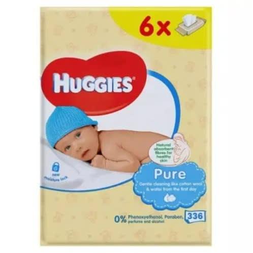 Sensitive Baby Wipes Pure Extra Care Gentle Hypoallergenic Wet Huggies 12 X 56 Baby Wipes