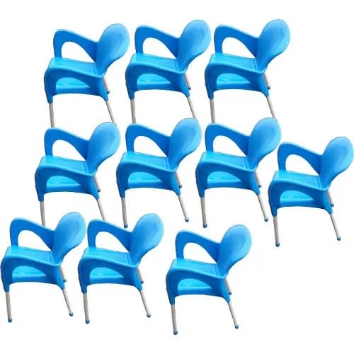 10 Pieces Of Igwe Plastic Iron Legs Chairs