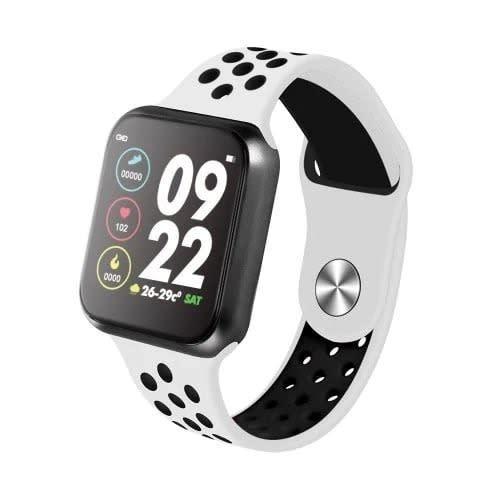 F8 Smart Bracelets Fitness Tracker Bt4.0 IP67 Water Proof - White & Black.