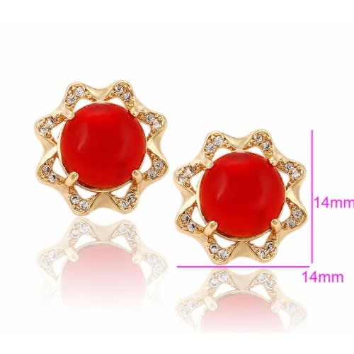 667155a76 Xuping Red Ball Gold-plated Stud Earring | Konga Online Shopping