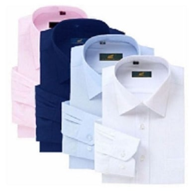 Men's Shirt - Pink, Navy Blue, Sky Blue & White - 4 Piece Set