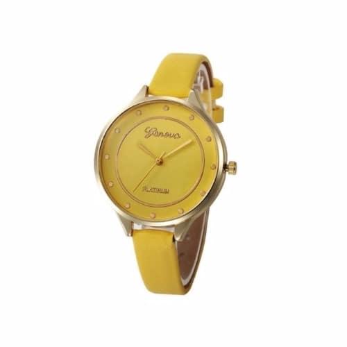 6db7d1ea6 Geneva Yellow Platinum Thin Leather Wristwatch   Konga Online Shopping