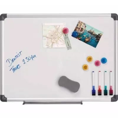 Magnetic White Board - 2ft X 3ft + Accessories.