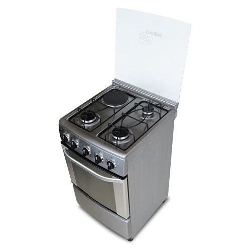 Electric/Gas Cooker With Oven 3 Gas 1 Electric
