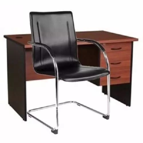 4ft Office Table With A Visitor Chair