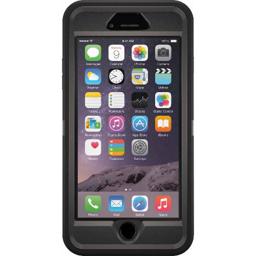 reputable site d5b1b 86c91 Defender Series Cover Case For iPhone 6 - 6s & Holster Belt Clip - Black