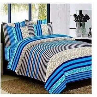 Bedsheet, Duvet With 4 Pillow Cases