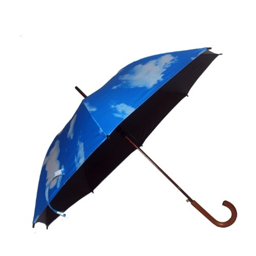 Unisex Blue Sky Wooden Umbrella