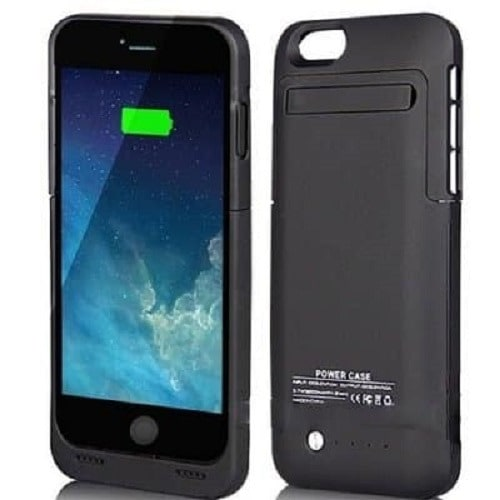 External Backup Battery Charger Case For iPhone 8 - Black