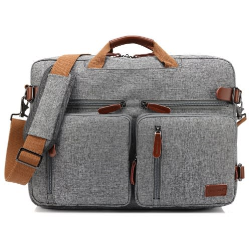 "17.3"" Convertible Backpack Messenger Business Bag (CB-5005) – Grey"