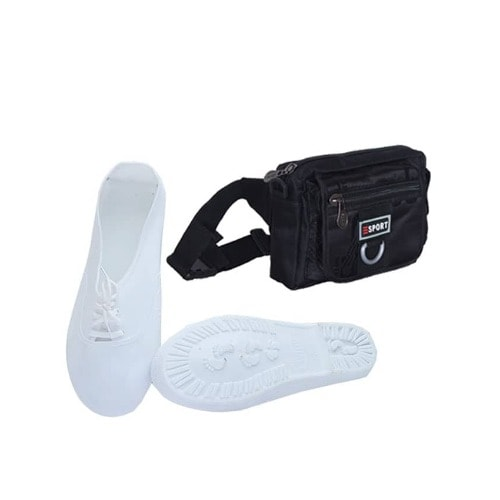 White Rubber Shoe & Waist Bag - Unisex