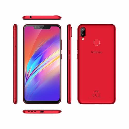 Hot 6x- Dual Sim- 16GB Rom- 2GB Ram- 4g Lte- 4000 Mah- Face Unlock- Fingerprint- Red