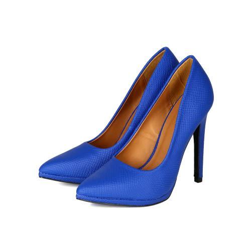 840487e623f Snakeskin Heels - Blue