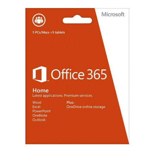 Microsoft Office 365 Home Premium Pc 5 + 5 Tablet, 1-year Subscription