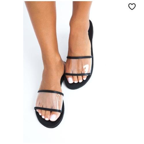 Ladies Black Slippers.
