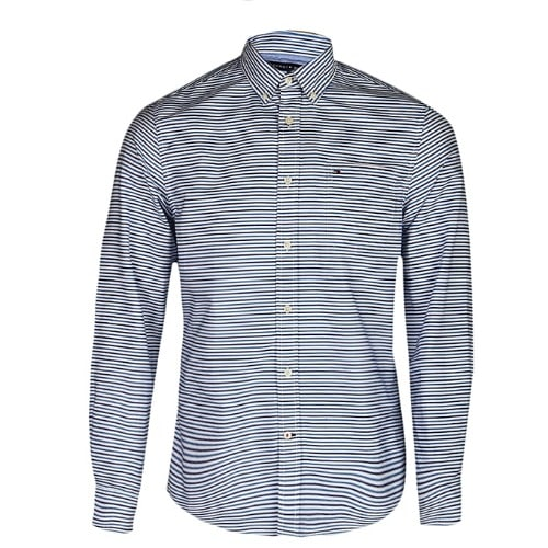 629e2be6 Tommy Hilfiger Men's Long-sleeve Button-down Stripes Shirt - Blue ...