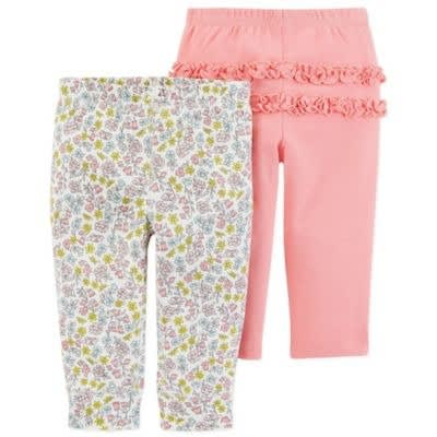 a778421fd3b03 Carter's 2-pack Floral Pull-on Pants In Coral | Konga Online Shopping