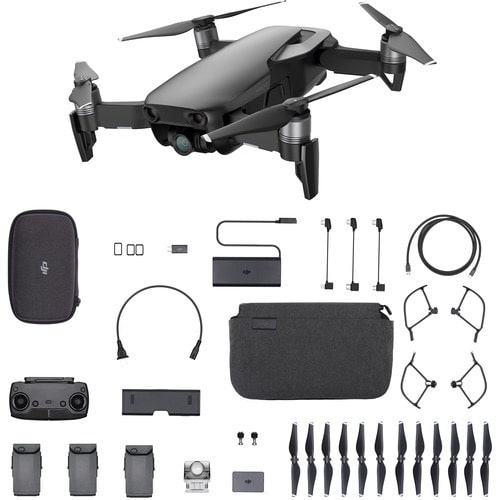 Mavic Air Fly More Combo (Onyx Black) - 4K Drone With Shoulder Bag