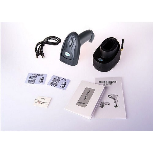 Wireless Barcode Scanner + Base Receiver + Internal Memory