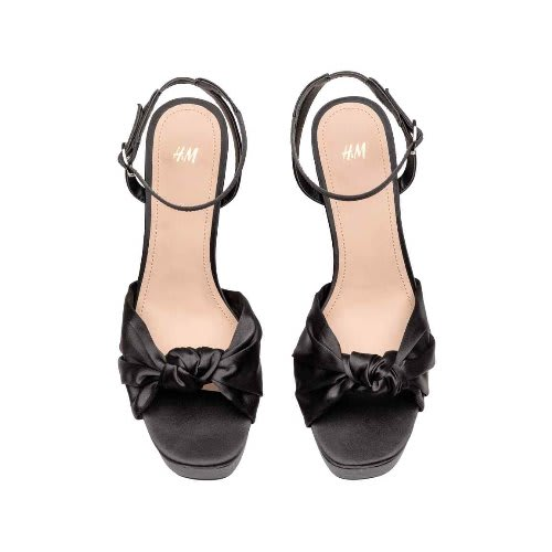 H \u0026 M Black Platform Ladies Shoes