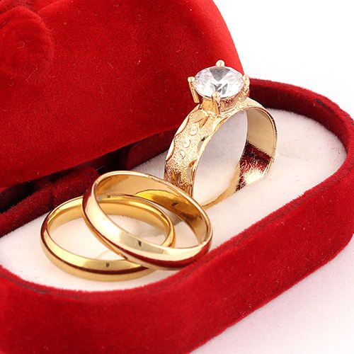 bfbd0064f8989 Single Stone Bridal Ring And Groom