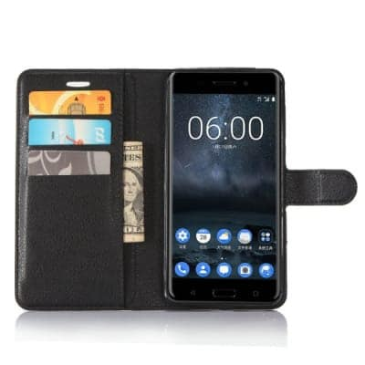 official photos 9d164 07dd0 Leather Wallet Flip Case For Nokia 2