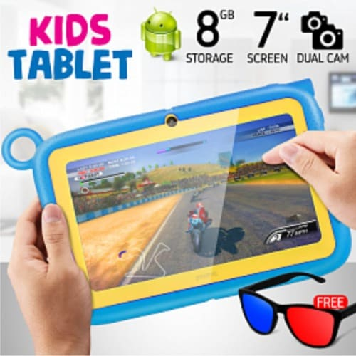 Kid's Learning Tablet 7 Inch - Android 6.1, 8gb, 1gb Ddr3, Wi-fi, Dual Camera - Blue.