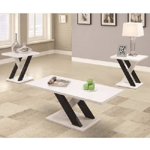 Constantino Zebra Coffee Table And Side Stool