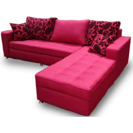 Zenith Exotic Mild Red Corner Sofa | Konga Online Shopping