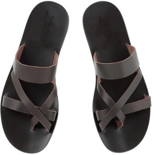 c7cd9dd38b34 Zorkle Men s Oluk Leather Slippers - Black
