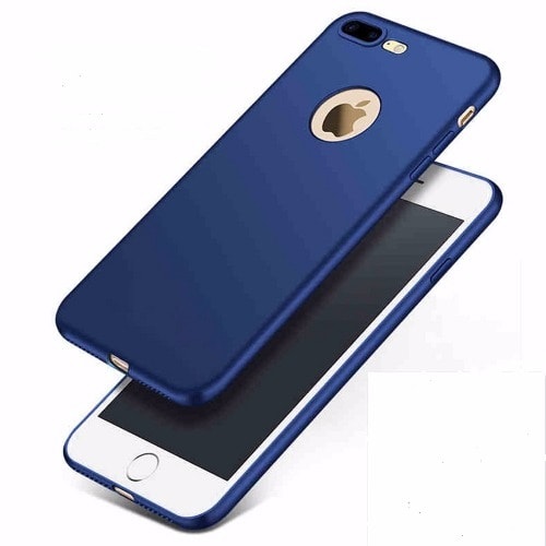 buy popular ca2d0 33145 iPhone 8 Plus 360 Degree Full Body Protection Soft TPU Back Case - Blue